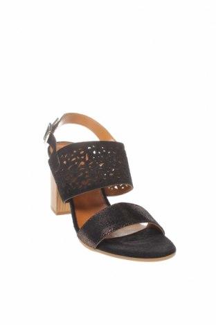 Сандали CAFèNOIR, Размер 38, Цвят Черен, Естествен велур, естествена кожа, Цена 43,60лв.