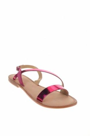 Сандали Gioseppo, Размер 39, Цвят Розов, Естествена кожа, естествен велур, Цена 31,92лв.