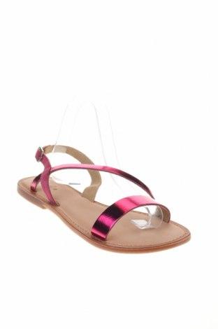 Сандали Gioseppo, Размер 40, Цвят Розов, Естествена кожа, естествен велур, Цена 31,92лв.