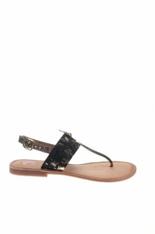 Сандали Gioseppo, Размер 39, Цвят Черен, Естествена кожа, естествен косъм, Цена 29,40лв.