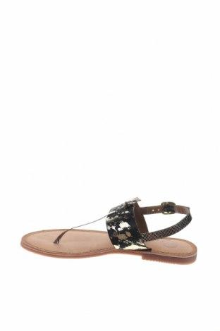 Σανδάλια Gioseppo, Μέγεθος 38, Χρώμα Μαύρο, Γνήσιο δέρμα, φυσική τρίχα, Τιμή 23,82€