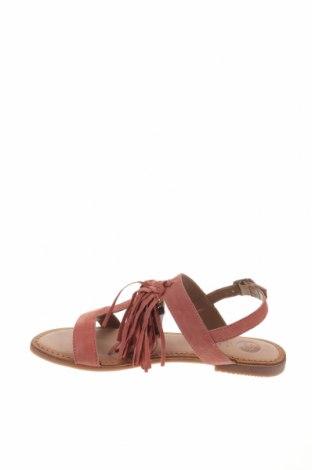 Сандали Gioseppo, Размер 38, Цвят Розов, Естествен велур, Цена 29,40лв.