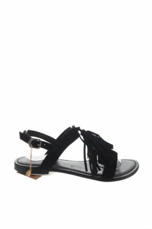 Σανδάλια Gioseppo, Μέγεθος 38, Χρώμα Μαύρο, Φυσικό σουέτ, Τιμή 22,95€