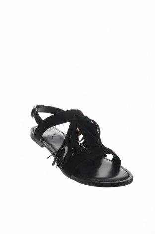 Σανδάλια Gioseppo, Μέγεθος 37, Χρώμα Μαύρο, Φυσικό σουέτ, Τιμή 22,95€