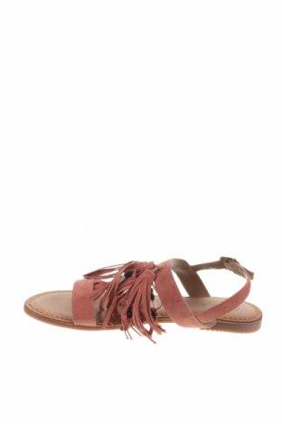 Сандали Gioseppo, Размер 39, Цвят Розов, Естествен велур, Цена 29,40лв.