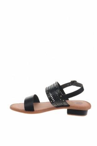 Σανδάλια Gioseppo, Μέγεθος 38, Χρώμα Μαύρο, Γνήσιο δέρμα, Τιμή 22,95€