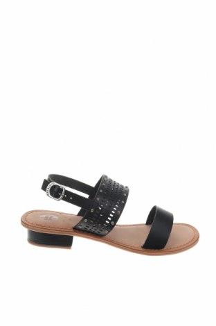 Σανδάλια Gioseppo, Μέγεθος 39, Χρώμα Μαύρο, Γνήσιο δέρμα, Τιμή 22,95€