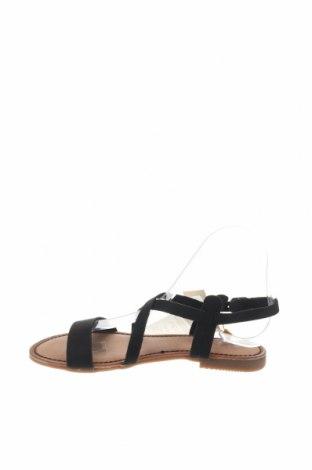 Сандали Gioseppo, Размер 36, Цвят Черен, Естествен велур, Цена 31,92лв.