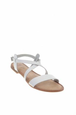 Σανδάλια Gioseppo, Μέγεθος 38, Χρώμα Λευκό, Γνήσιο δέρμα, Τιμή 23,82€