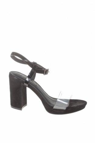 Сандали Kiomi, Размер 36, Цвят Черен, Естествен велур, полиуретан, Цена 43,56лв.