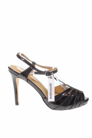 Σανδάλια Maria Mare, Μέγεθος 39, Χρώμα Μαύρο, Δερματίνη, Τιμή 18,25€