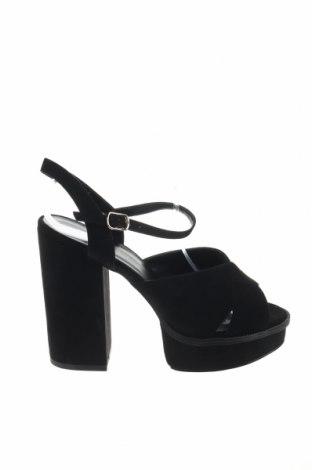 Σανδάλια New Look, Μέγεθος 40, Χρώμα Μαύρο, Κλωστοϋφαντουργικά προϊόντα, Τιμή 20,10€