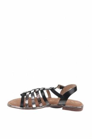 Сандали Nicewalk, Размер 39, Цвят Черен, Еко кожа, Цена 22,05лв.