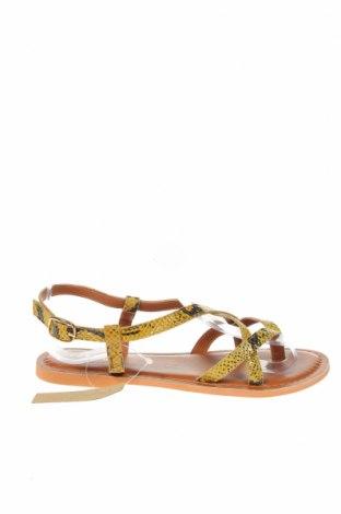 Сандали Topshop, Размер 36, Цвят Жълт, Естествена кожа, Цена 41,28лв.