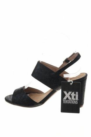 Σανδάλια Xti, Μέγεθος 37, Χρώμα Μαύρο, Δερματίνη, Τιμή 20,63€