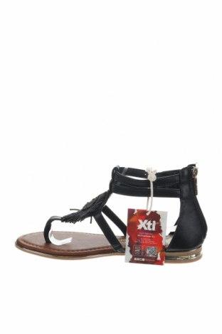 Σανδάλια Xti, Μέγεθος 38, Χρώμα Μαύρο, Δερματίνη, Τιμή 16,73€