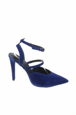 Sandály Zign, Velikost 42, Barva Modrá, Přírodní velur , Cena  556,00Kč
