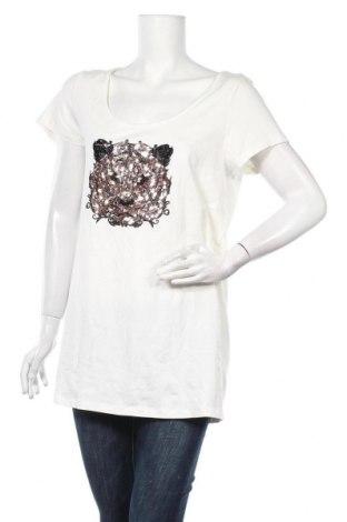Τουνίκ Alba Moda, Μέγεθος XL, Χρώμα Εκρού, 47% βαμβάκι, 47% μοντάλ, 6% ελαστάνη, Τιμή 12,28€