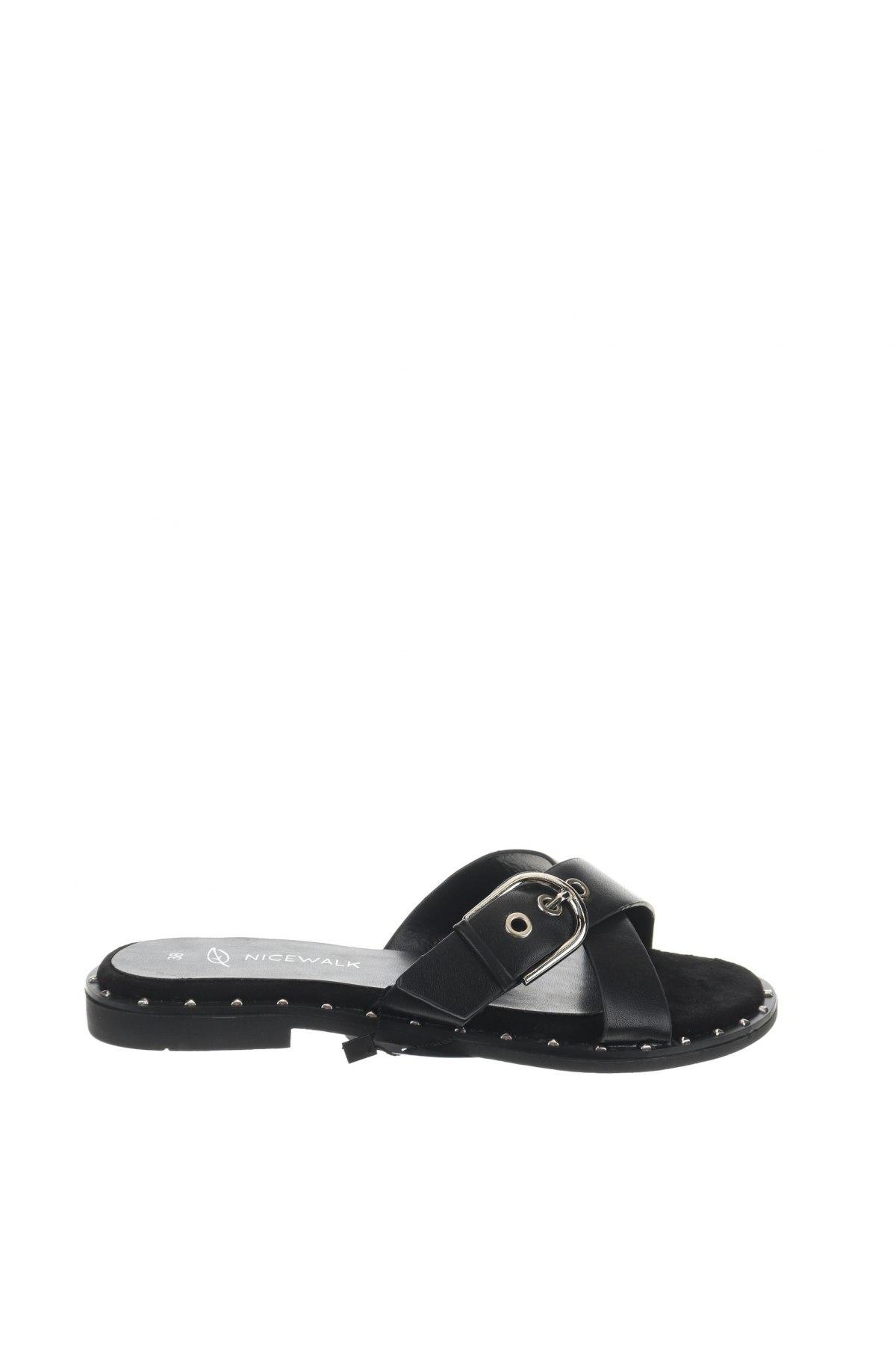 Γυναικείες παντόφλες Nicewalk, Μέγεθος 38, Χρώμα Μαύρο, Δερματίνη, Τιμή 10,76€
