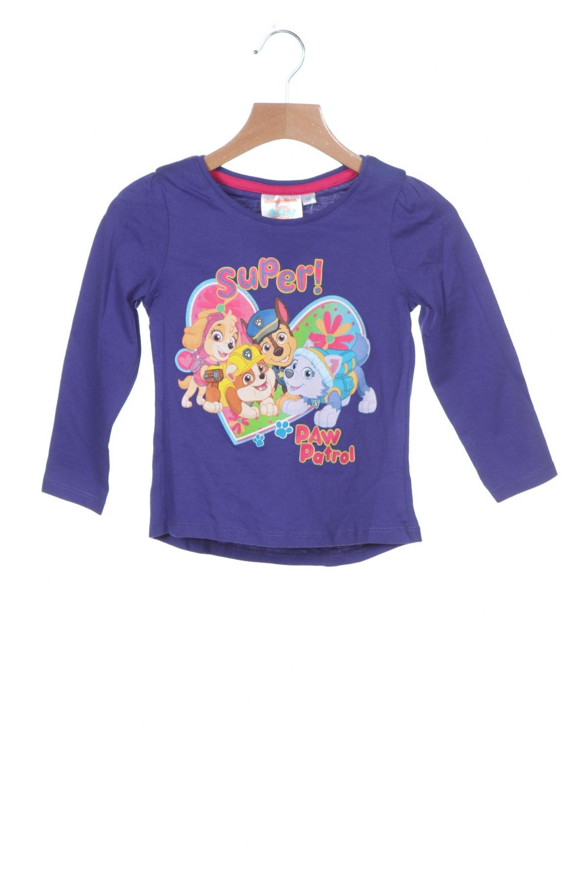 Παιδική μπλούζα Nickelodeon, Μέγεθος 2-3y/ 98-104 εκ., Χρώμα Βιολετί, Βαμβάκι, Τιμή 6,12€