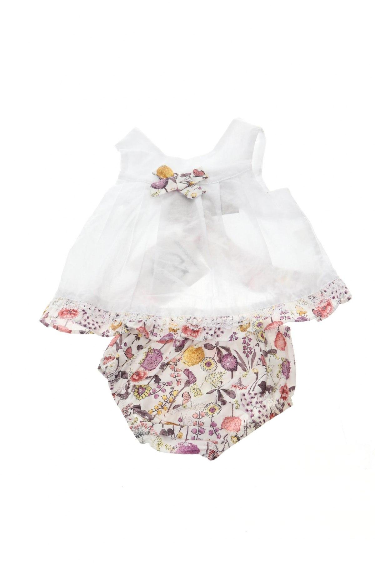 Παιδικό φόρεμα Lola Palacios, Μέγεθος 3-6m/ 62-68 εκ., Χρώμα Λευκό, Βαμβάκι, Τιμή 15,54€