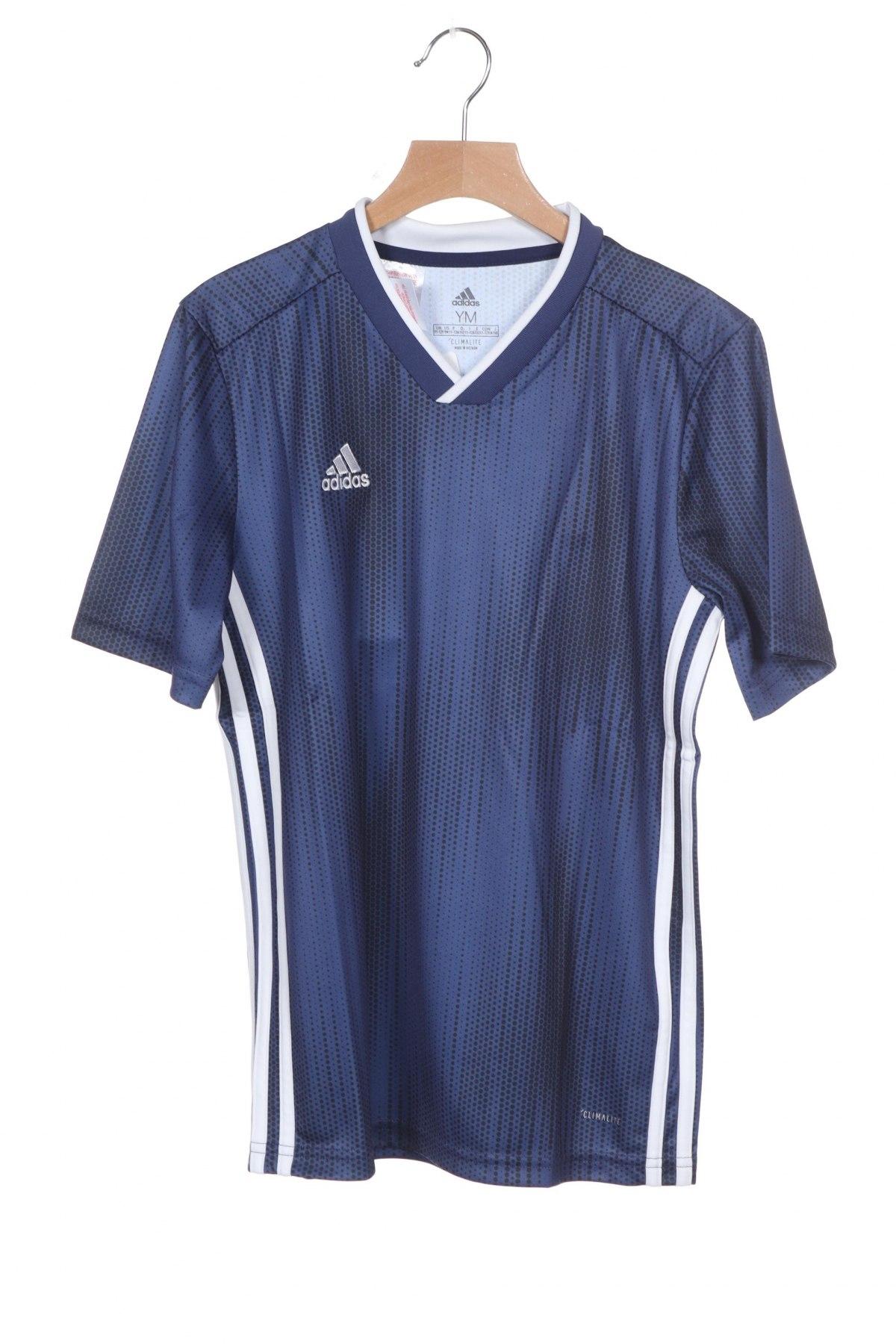 Παιδικό μπλουζάκι Adidas, Μέγεθος 10-11y/ 146-152 εκ., Χρώμα Μπλέ, Πολυεστέρας, Τιμή 8,51€