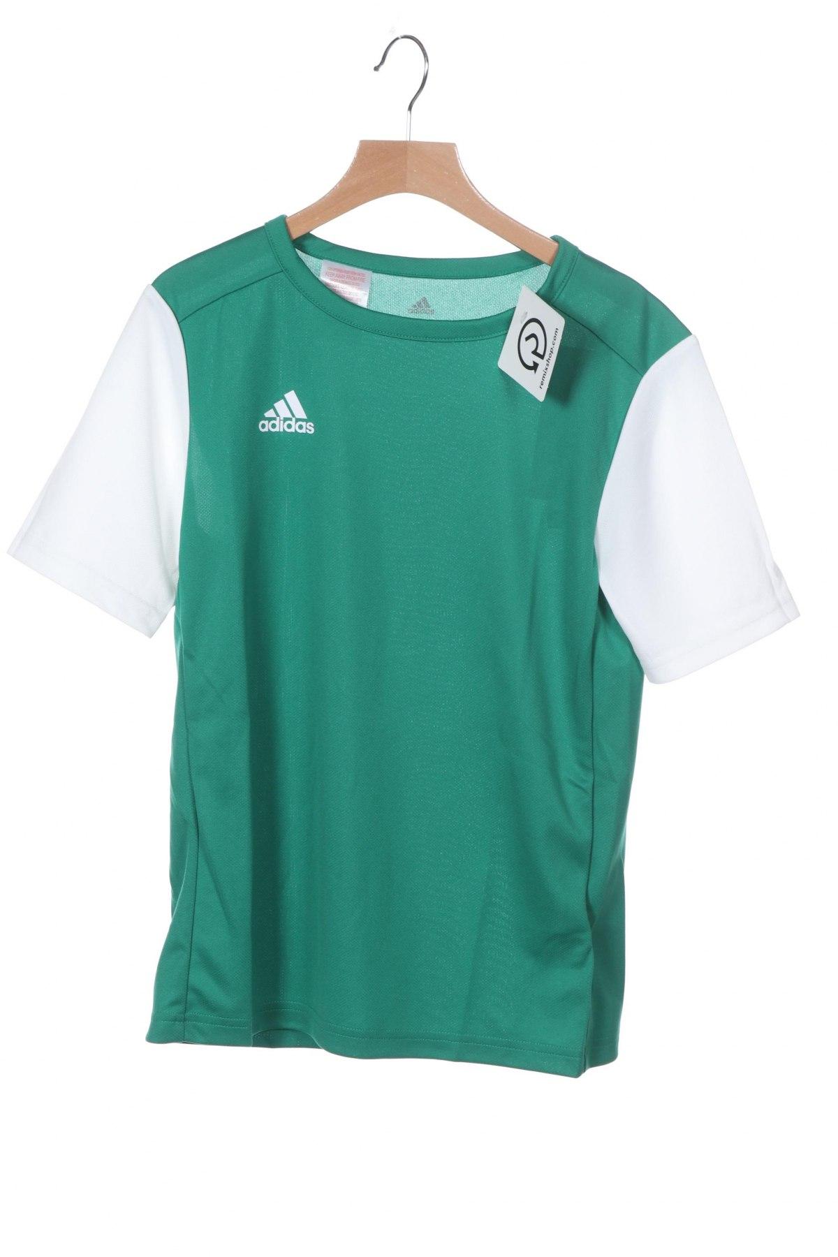 Παιδικό μπλουζάκι Adidas, Μέγεθος 11-12y/ 152-158 εκ., Χρώμα Πράσινο, Πολυεστέρας, Τιμή 8,66€