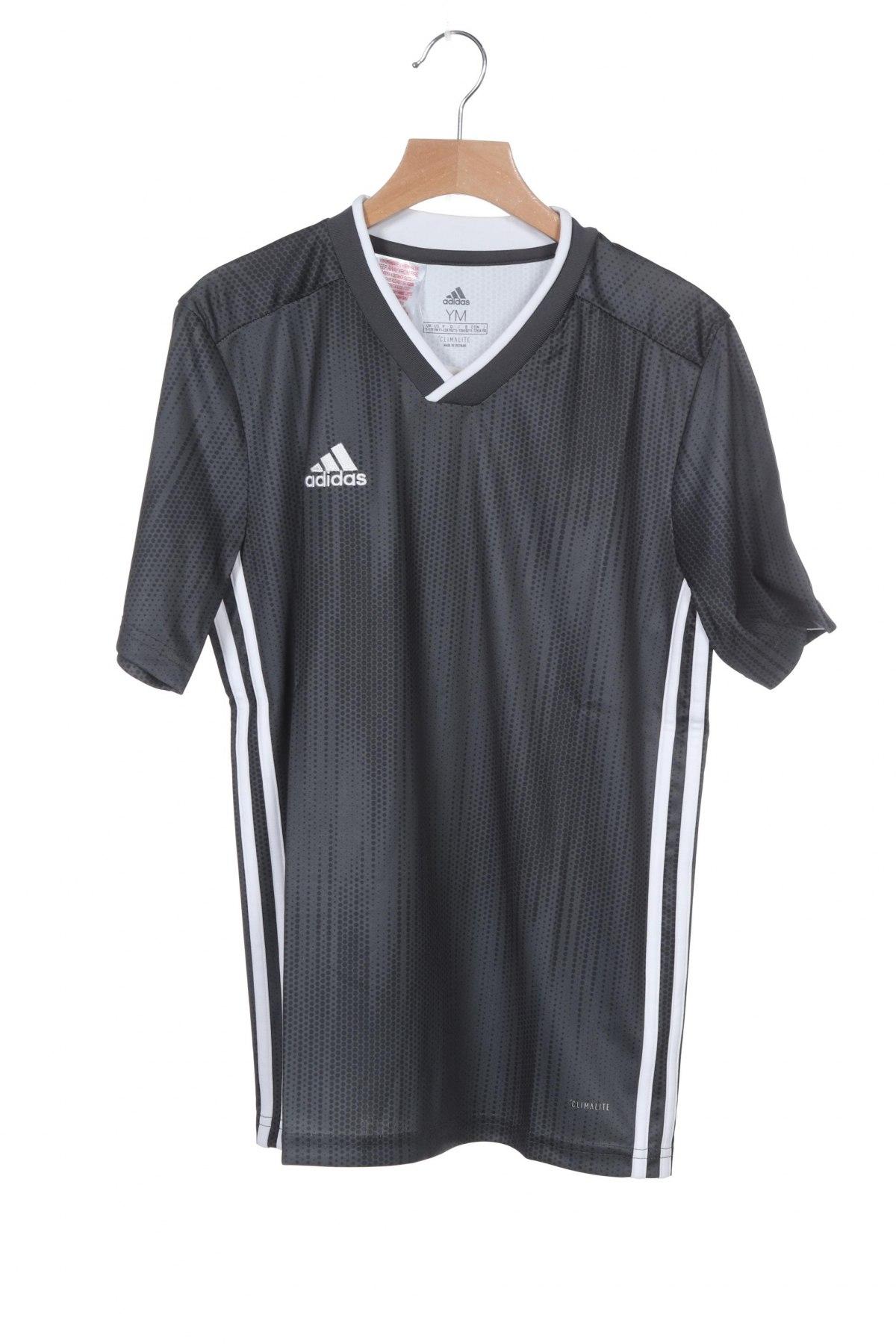 Παιδικό μπλουζάκι Adidas, Μέγεθος 10-11y/ 146-152 εκ., Χρώμα Γκρί, Πολυεστέρας, Τιμή 22,81€