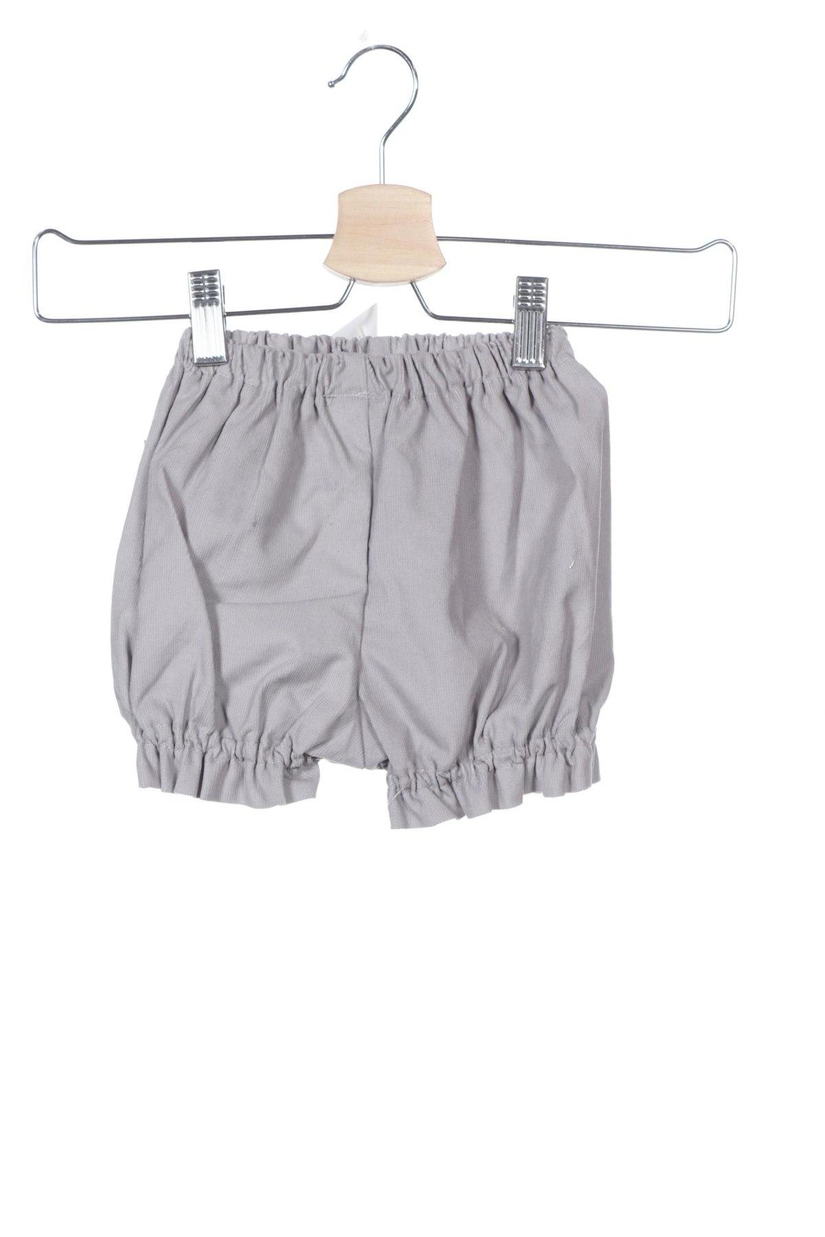 Παιδικό κοντό παντελόνι Lola Palacios, Μέγεθος 3-4y/ 104-110 εκ., Χρώμα Γκρί, Βαμβάκι, Τιμή 8,77€