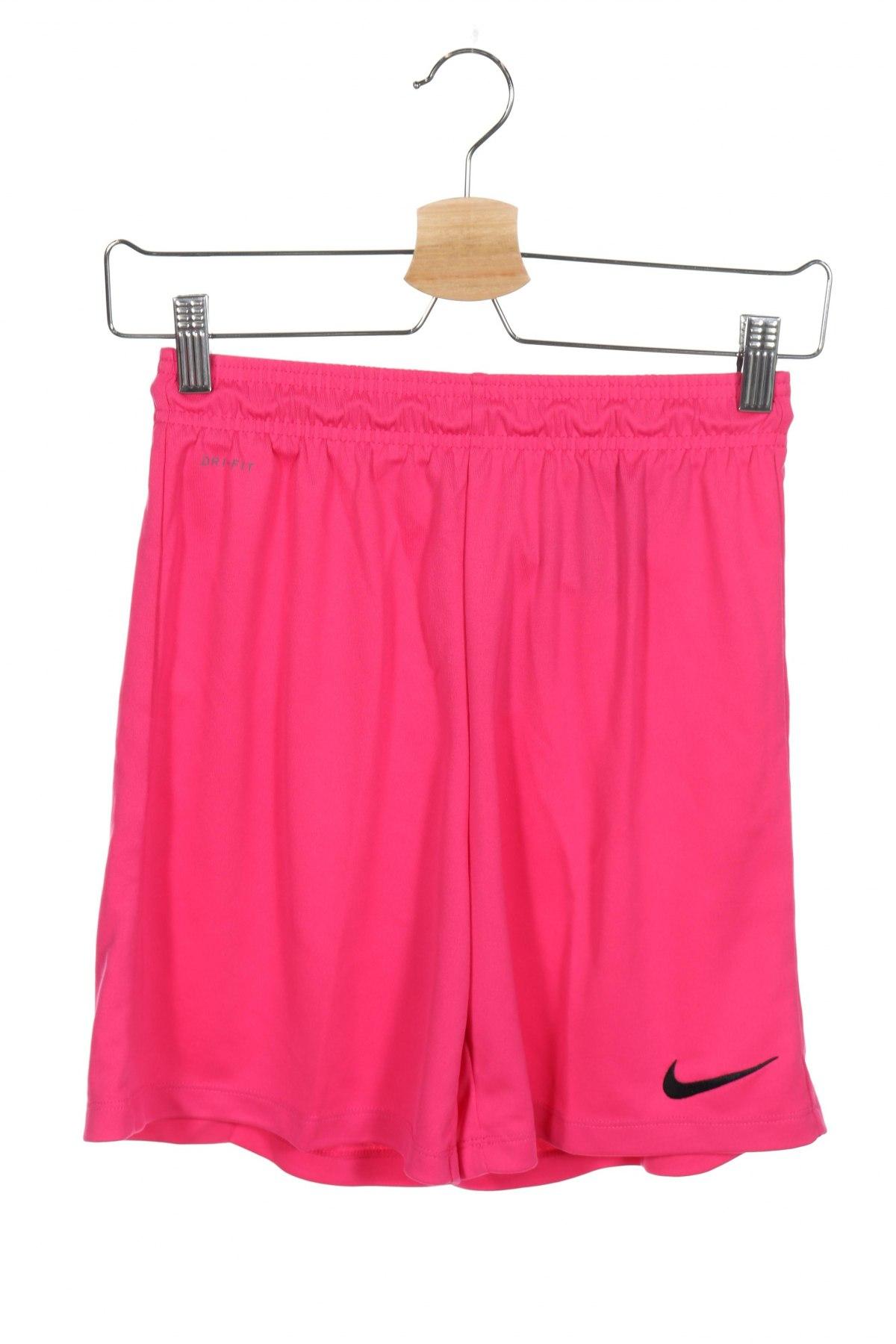 Детски къс панталон Nike, Размер 11-12y/ 152-158 см, Цвят Розов, Полиестер, Цена 36,75лв.