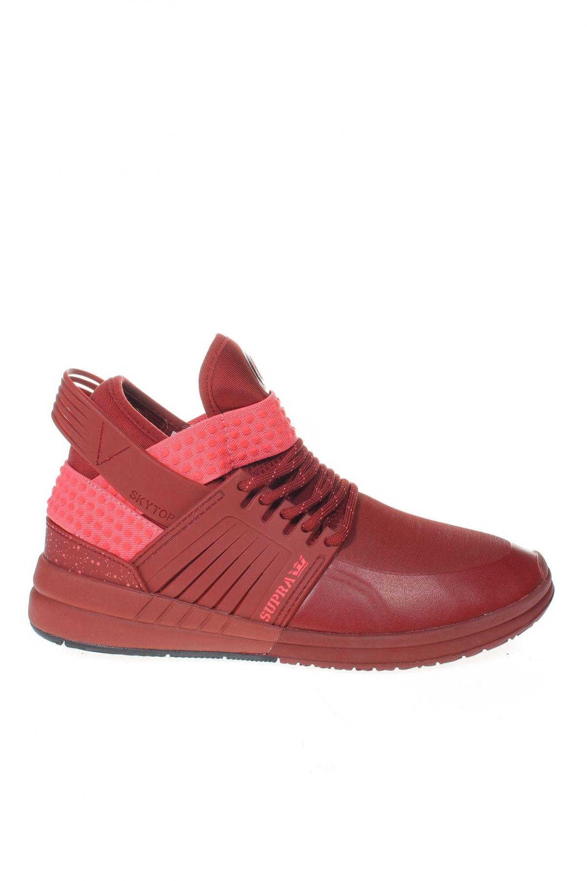 Мъжки обувки Supra, Размер 40, Цвят Червен, Текстил, полиуретан, Цена 104,25лв.