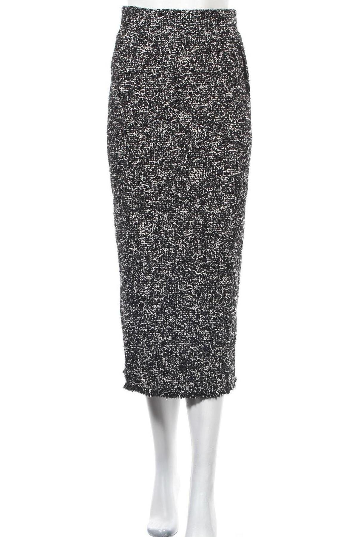 Пола Zara, Размер S, Цвят Черен, 39% памук, 29% полиестер, 25% акрил, 7% вълна, Цена 42,00лв.