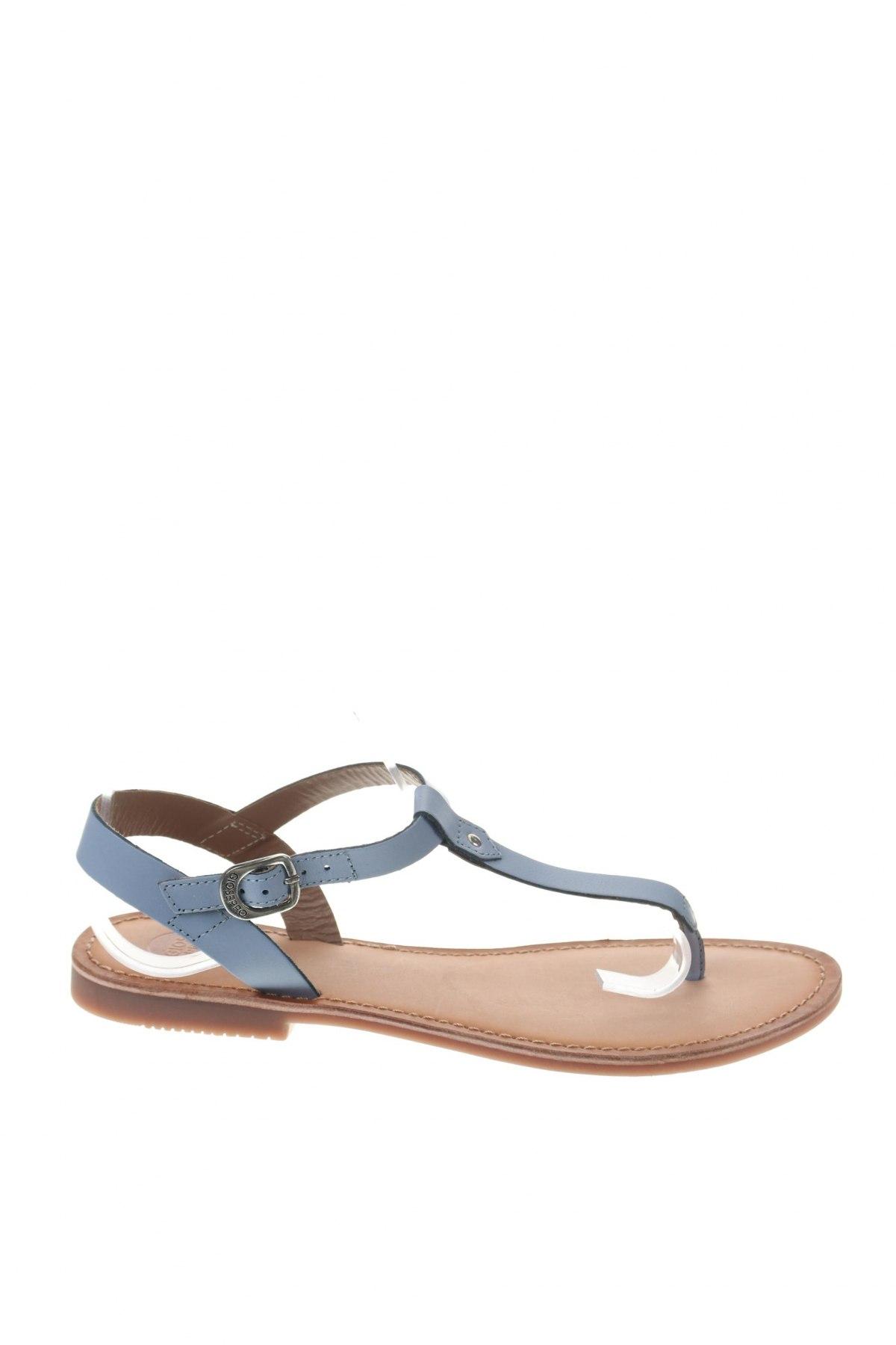 Σανδάλια Gioseppo, Μέγεθος 39, Χρώμα Μπλέ, Γνήσιο δέρμα, Τιμή 22,95€