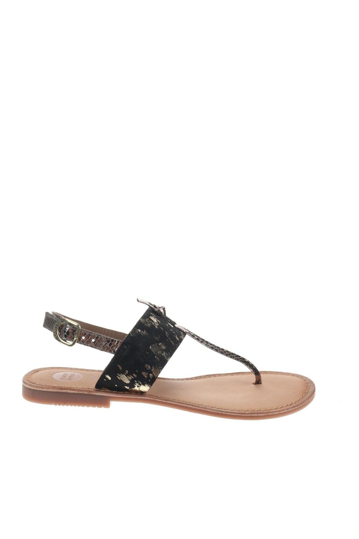Σανδάλια Gioseppo, Μέγεθος 39, Χρώμα Μαύρο, Γνήσιο δέρμα, φυσική τρίχα, Τιμή 23,82€