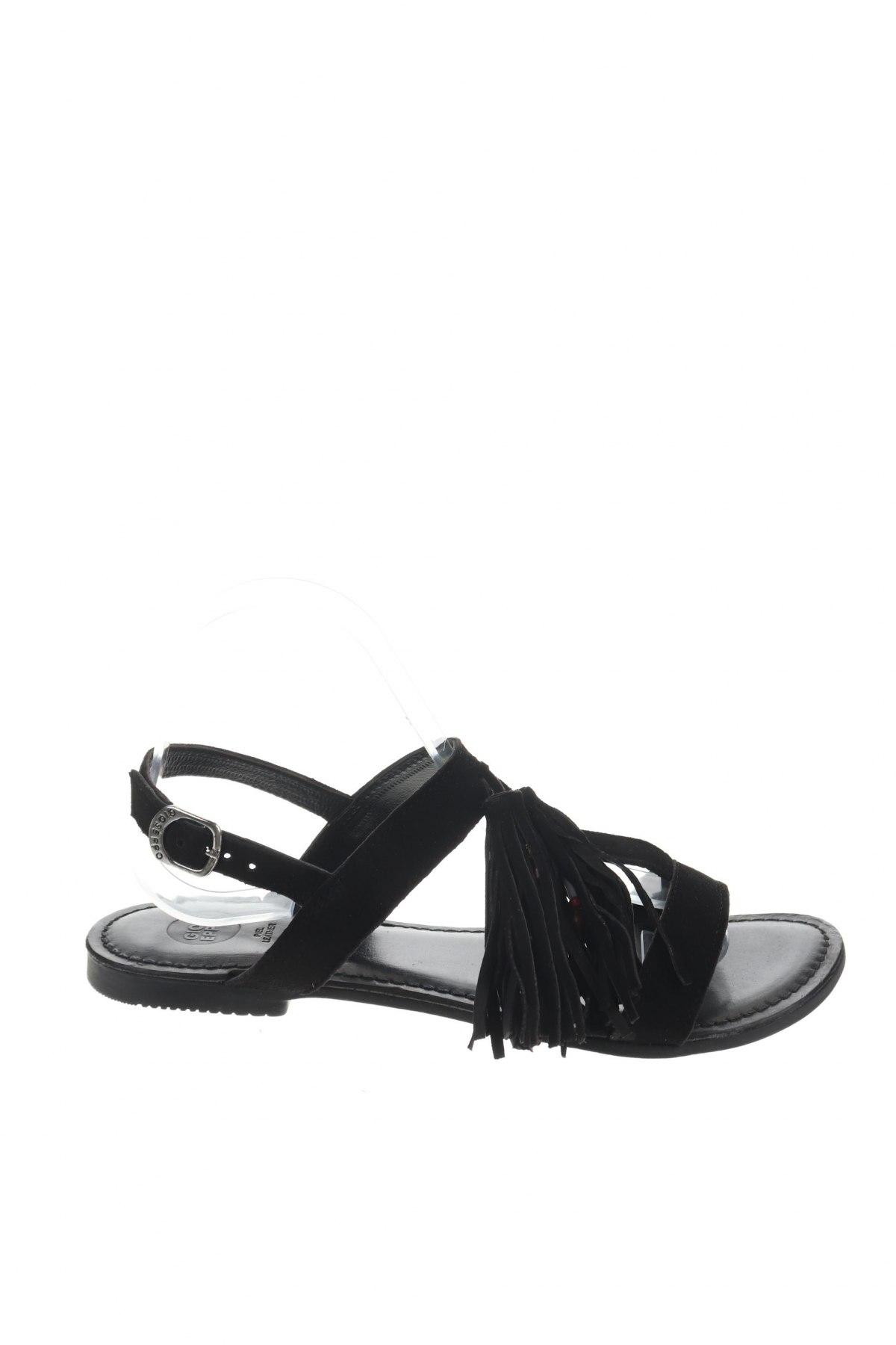 Σανδάλια Gioseppo, Μέγεθος 39, Χρώμα Μαύρο, Φυσικό σουέτ, Τιμή 22,95€