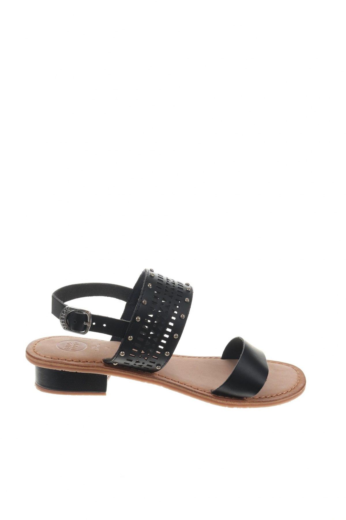 Σανδάλια Gioseppo, Μέγεθος 37, Χρώμα Μαύρο, Γνήσιο δέρμα, Τιμή 22,95€