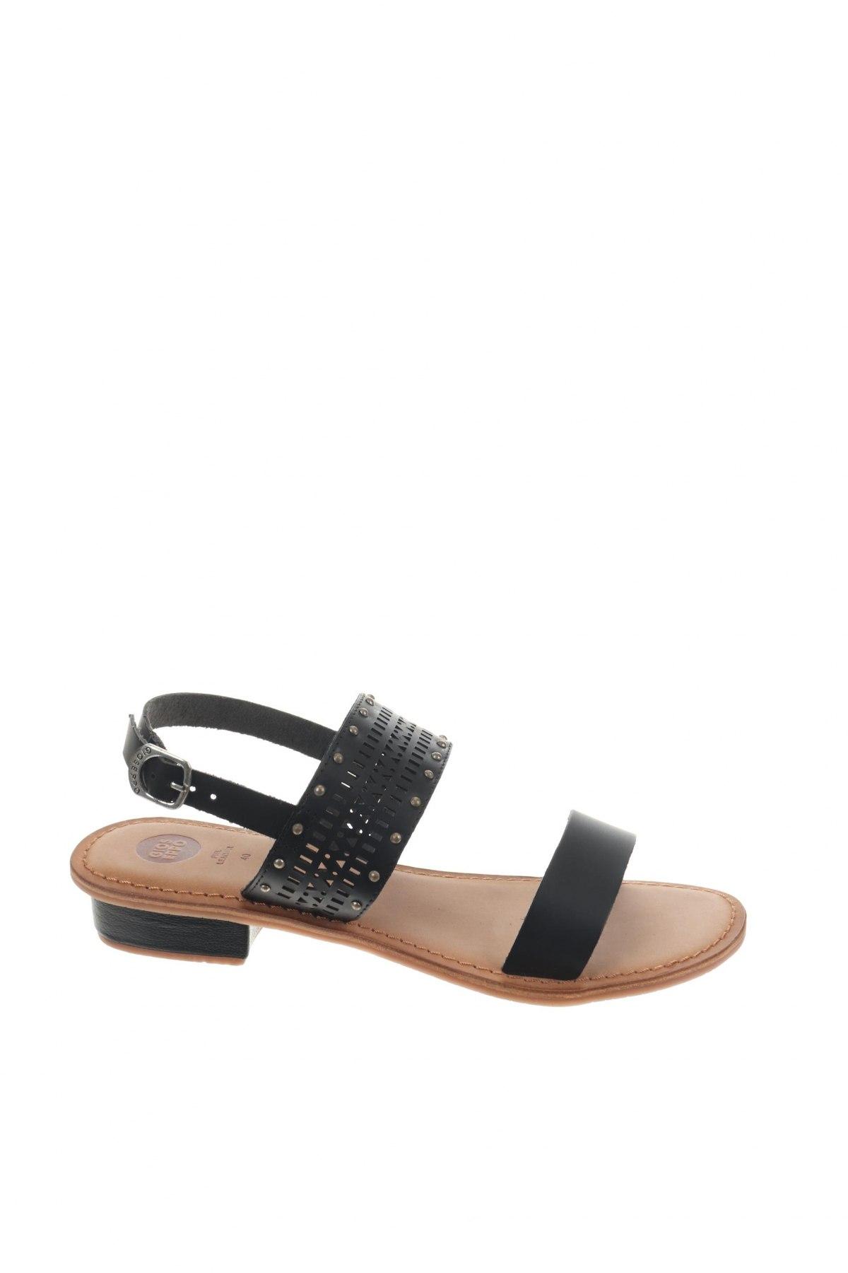Σανδάλια Gioseppo, Μέγεθος 40, Χρώμα Μαύρο, Γνήσιο δέρμα, Τιμή 22,95€