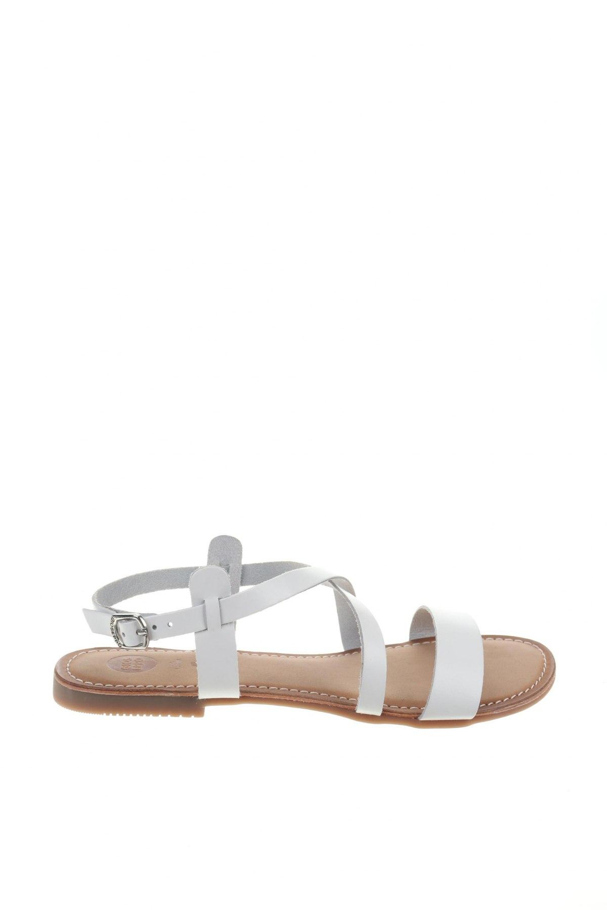 Σανδάλια Gioseppo, Μέγεθος 40, Χρώμα Λευκό, Γνήσιο δέρμα, Τιμή 21,65€