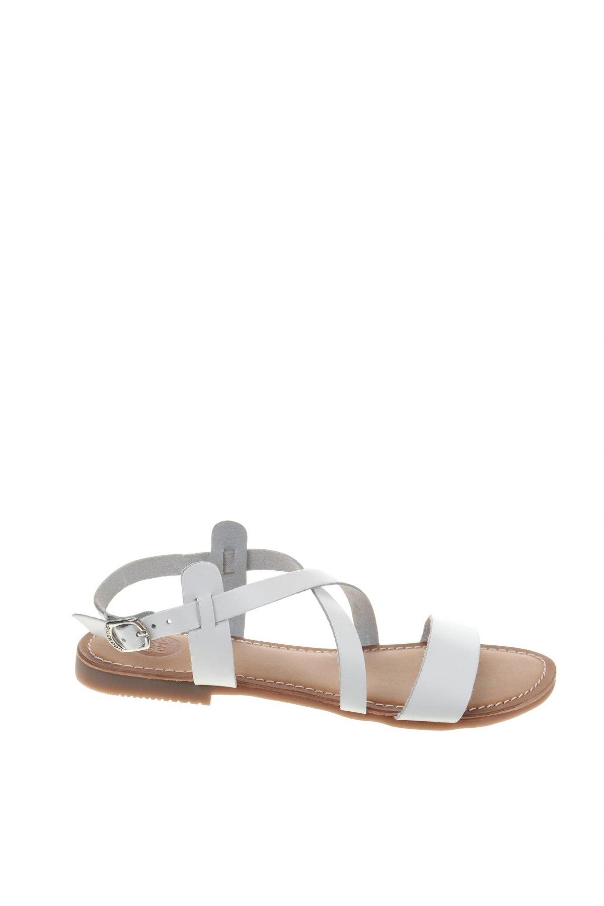 Σανδάλια Gioseppo, Μέγεθος 36, Χρώμα Λευκό, Γνήσιο δέρμα, Τιμή 23,82€