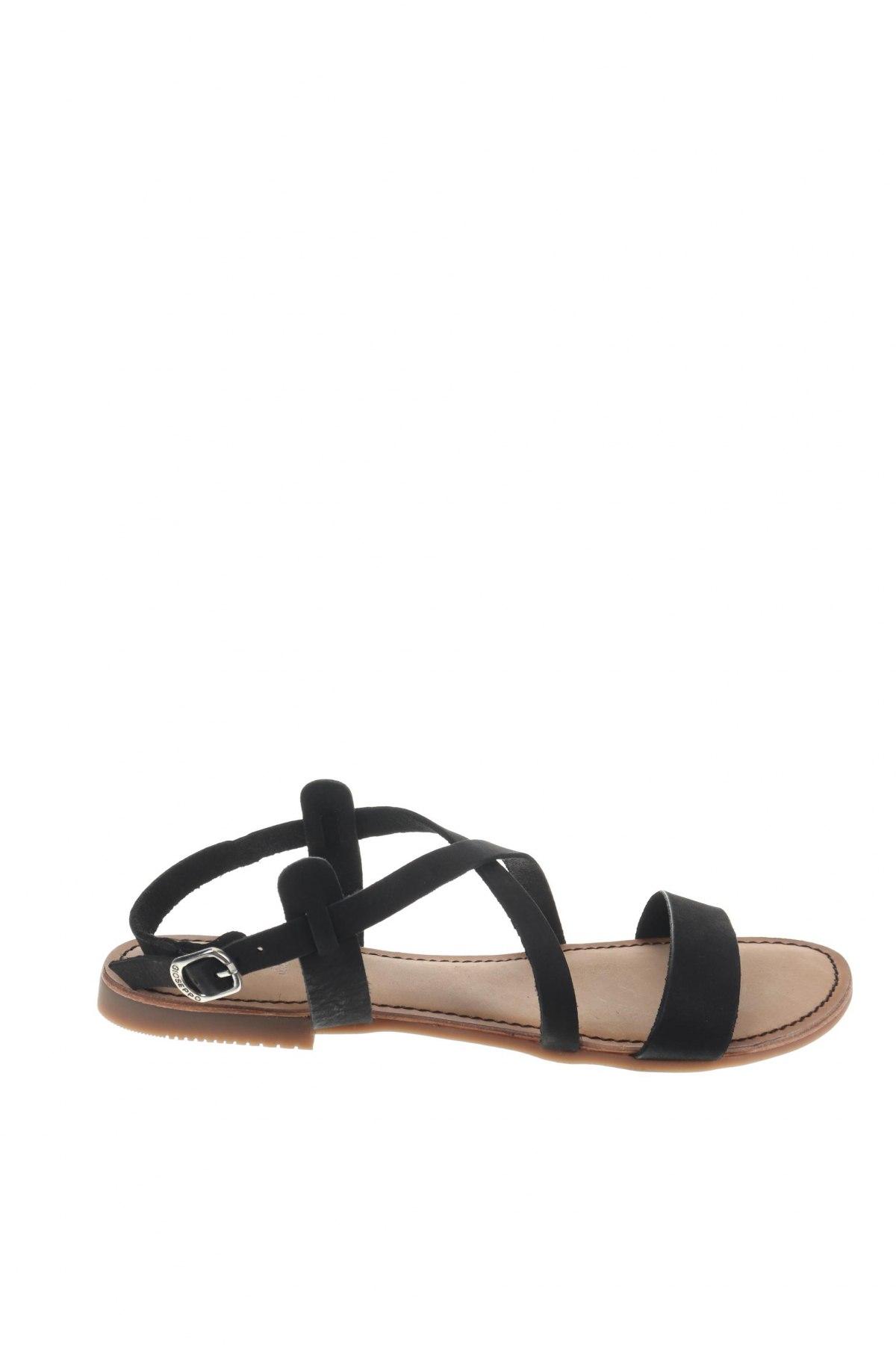 Сандали Gioseppo, Размер 40, Цвят Черен, Естествен велур, Цена 31,92лв.