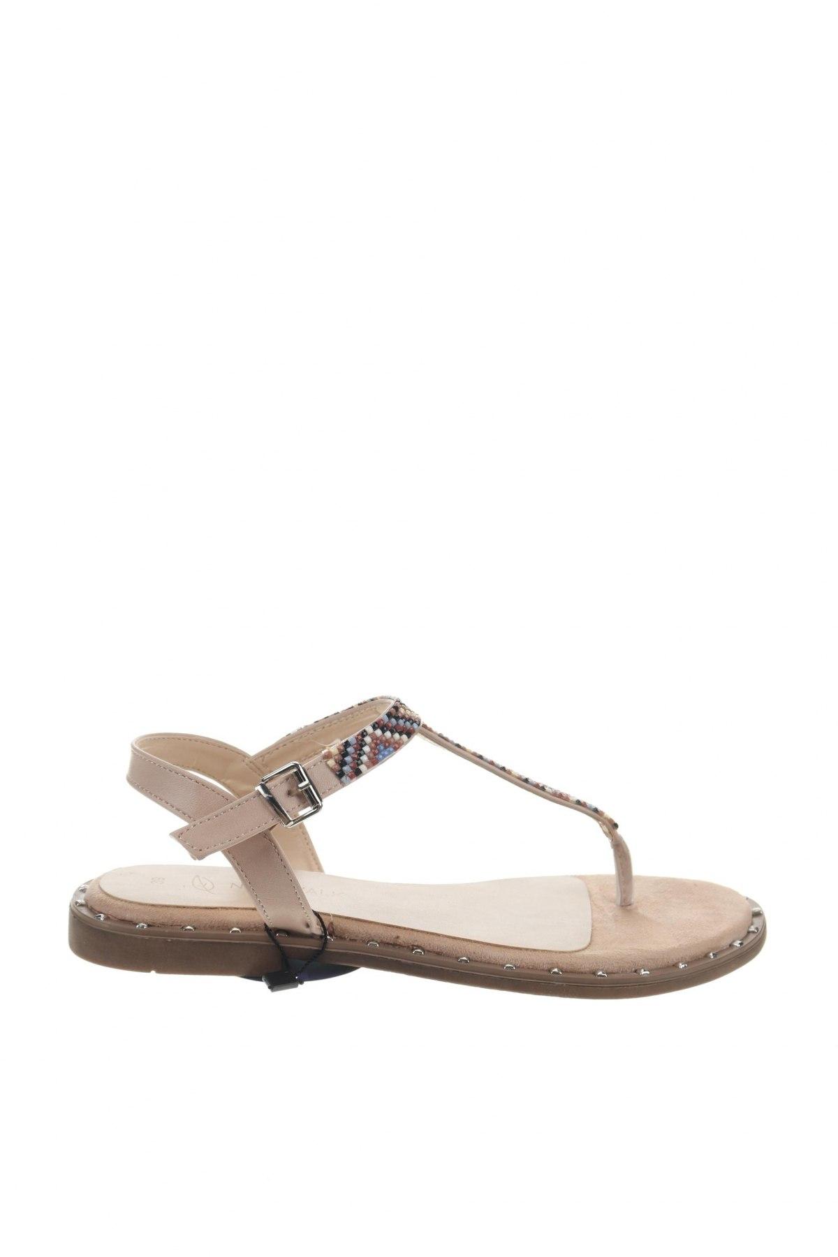 Σανδάλια Nicewalk, Μέγεθος 39, Χρώμα  Μπέζ, Δερματίνη, Τιμή 12,63€