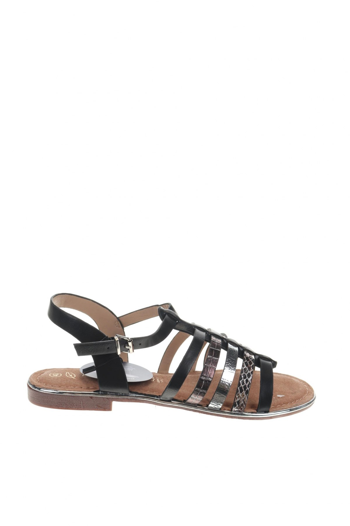 Σανδάλια Nicewalk, Μέγεθος 40, Χρώμα Μαύρο, Δερματίνη, Τιμή 13,39€