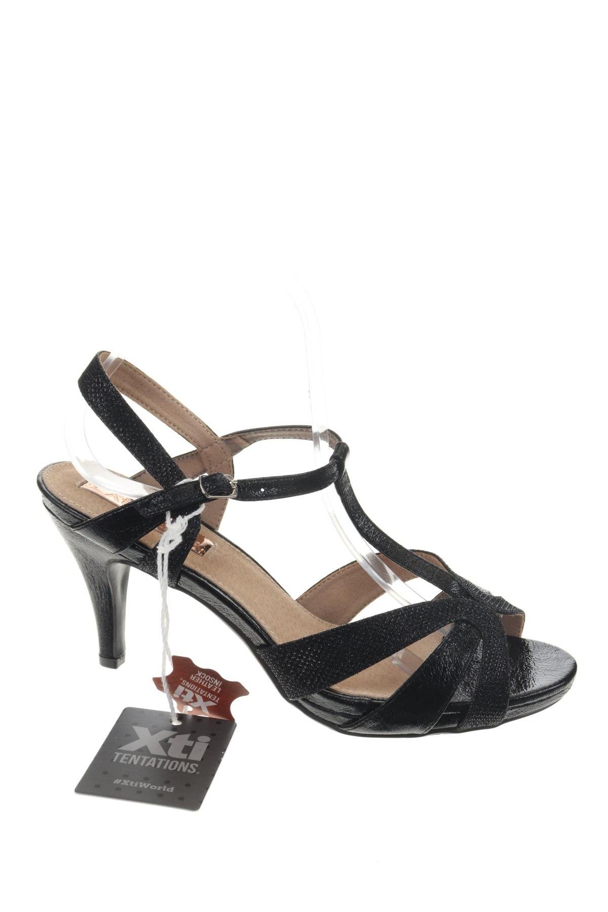 Σανδάλια Xti, Μέγεθος 40, Χρώμα Μαύρο, Δερματίνη, Τιμή 19,56€