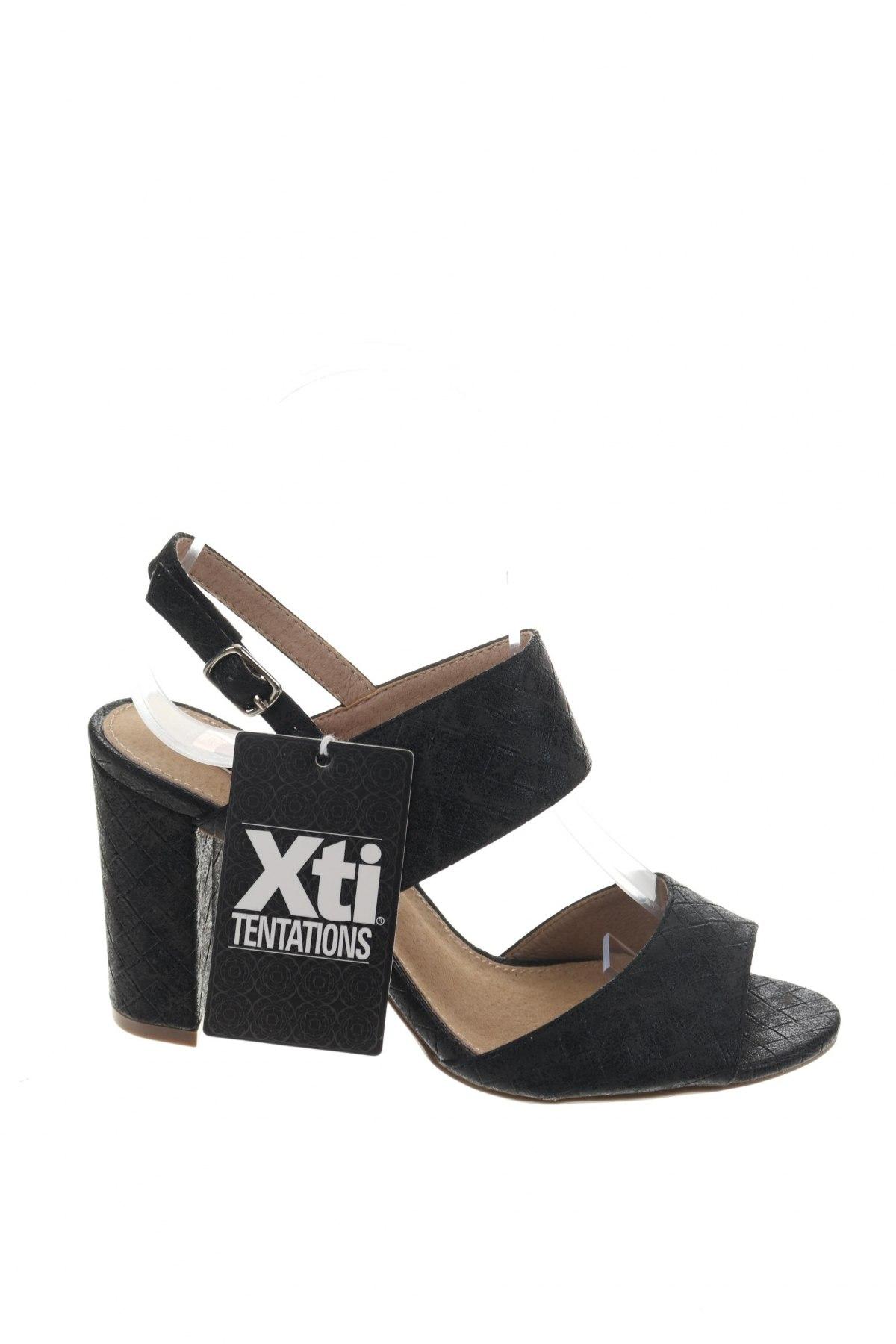 Σανδάλια Xti, Μέγεθος 36, Χρώμα Μαύρο, Δερματίνη, Τιμή 20,63€