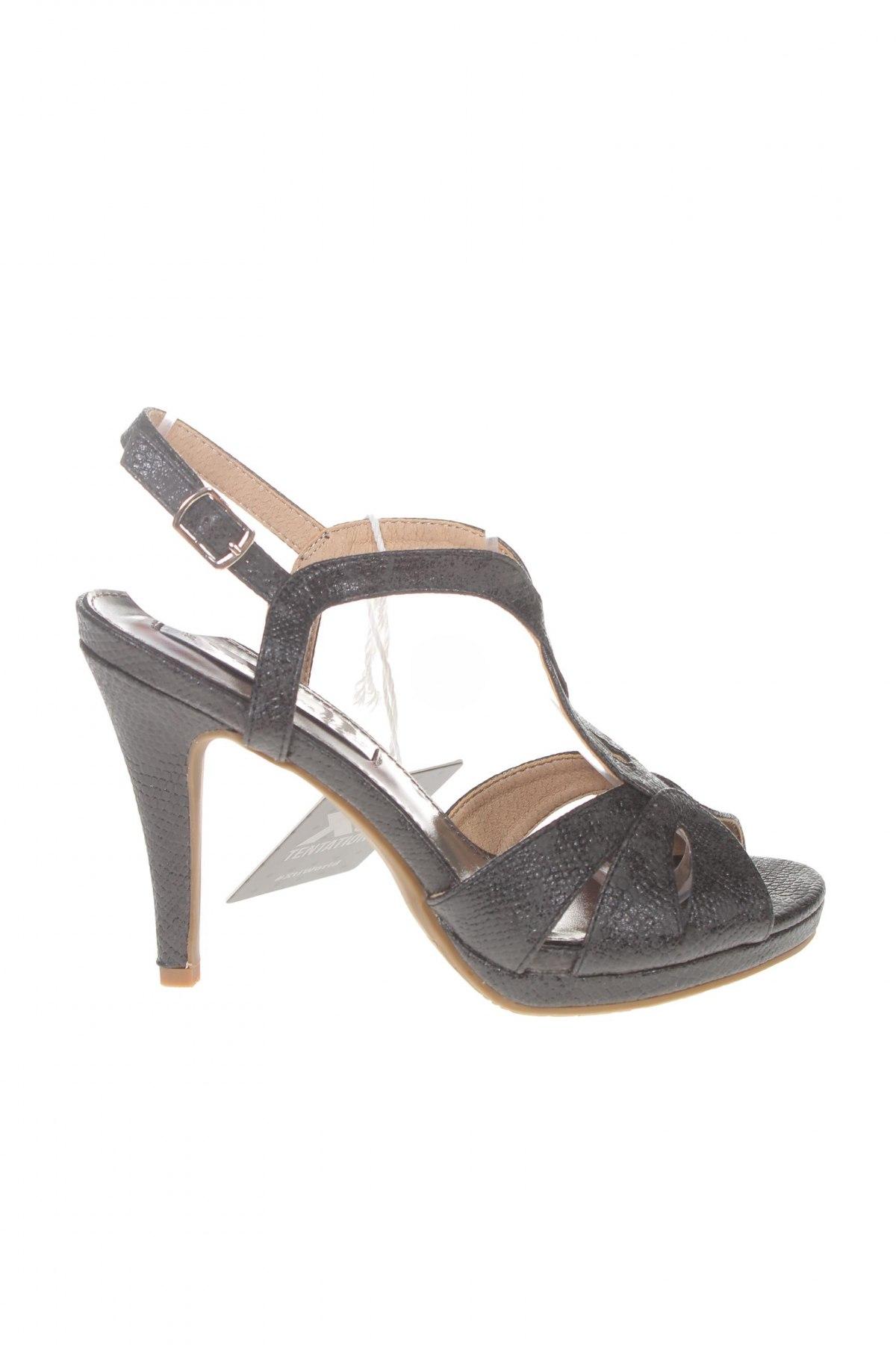 Σανδάλια Xti, Μέγεθος 36, Χρώμα Μαύρο, Δερματίνη, Τιμή 18,85€