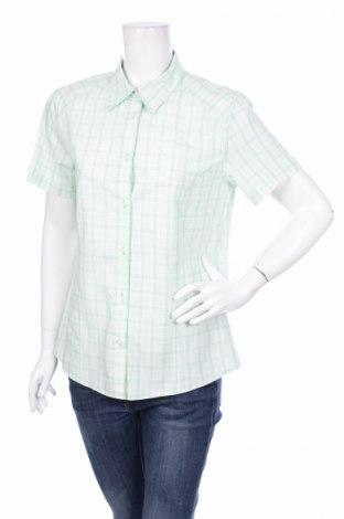 Γυναικείο πουκάμισο Crane, Μέγεθος L, Χρώμα Πράσινο, 50% πολυεστέρας, 30% βισκόζη, 20% βαμβάκι, Τιμή 9,90€