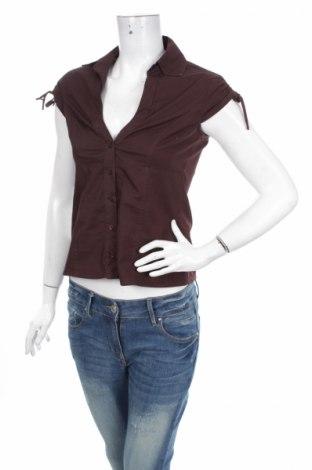 Дамска риза Tally Weijl, Размер S, Цвят Кафяв, 97% памук, 3% еластан, Цена 3,50лв.