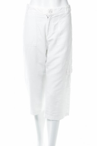 Дамски панталон Angels, Размер M, Цвят Бял, 60% лен, 40% памук, Цена 9,68лв.