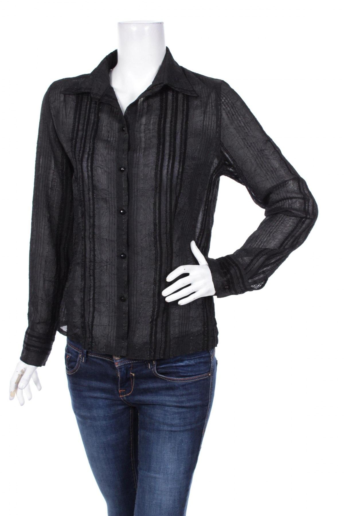 Γυναικείο πουκάμισο, Μέγεθος L, Χρώμα Μαύρο, Τιμή 9,90€