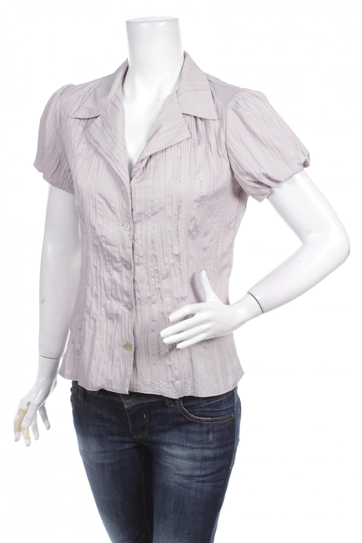 Γυναικείο πουκάμισο Helena Bedrnova, Μέγεθος M, Χρώμα Γκρί, Πολυεστέρας, Τιμή 9,28€